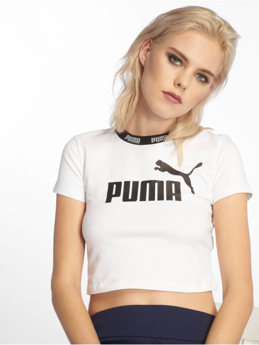 Puma Performance Sportshirts Amplified Cropped Tee weiß