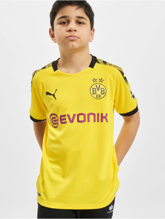 Puma Performance T-shirt BVB Home Replica JR With Evonik Logo With Opel Logo giallo