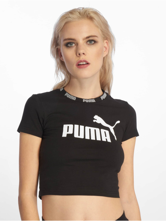 Puma Performance T-Shirt Amplified Cropped Tee schwarz