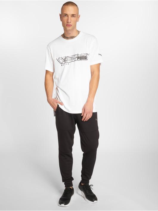 Puma Performance T-skjorter N.R.G Triblend Graphic hvit