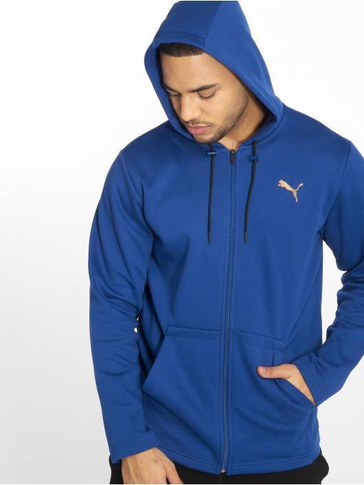 Puma Performance Zip Hoodie VENT blå