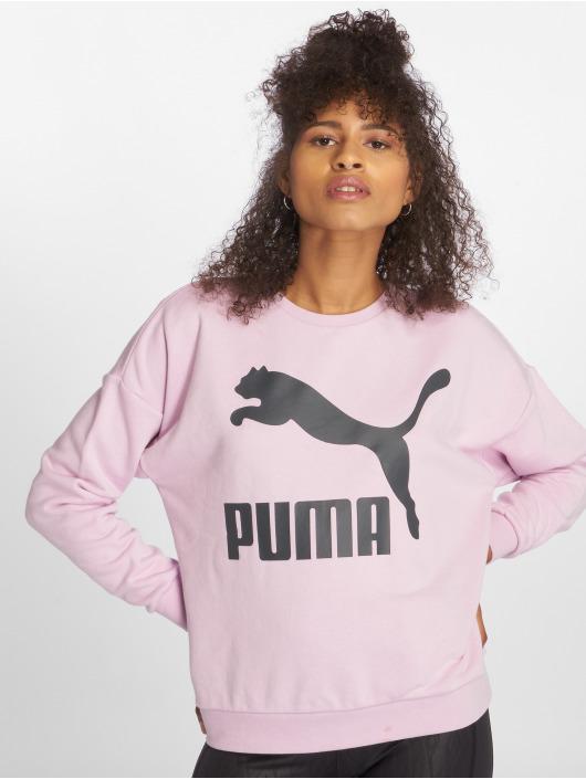 Puma Pulóvre Classics Logo fialová