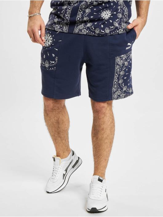 Puma Shorts OB Patchwork blau
