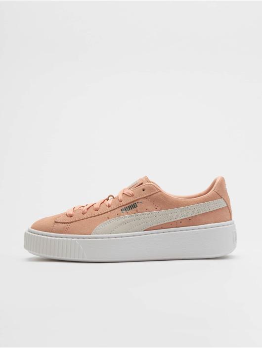 Puma Suede Platform Sneakers Peach Bud/Puma Silvern