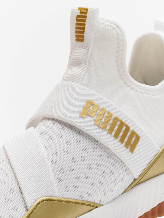 Puma Sneakers Defy Mid Sparkle bialy