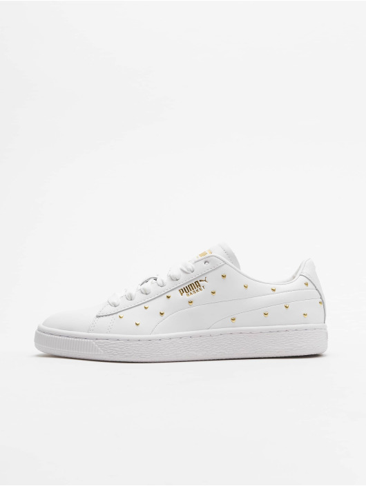 Puma Sneakers Basket Studs bialy