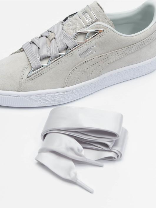 meet 11d47 2944c Puma Suede Jewel Metalic Sneakers Glacier Gray/Glacier Gray