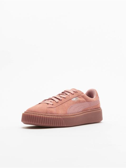 Puma Sneakers Basket Platform hnedá
