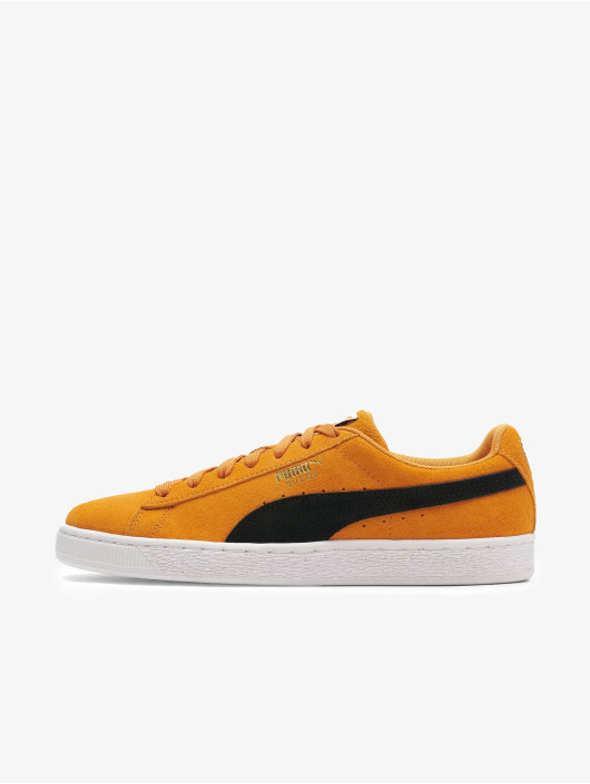 Orange klassiske sneackers i ruskind fra Puma