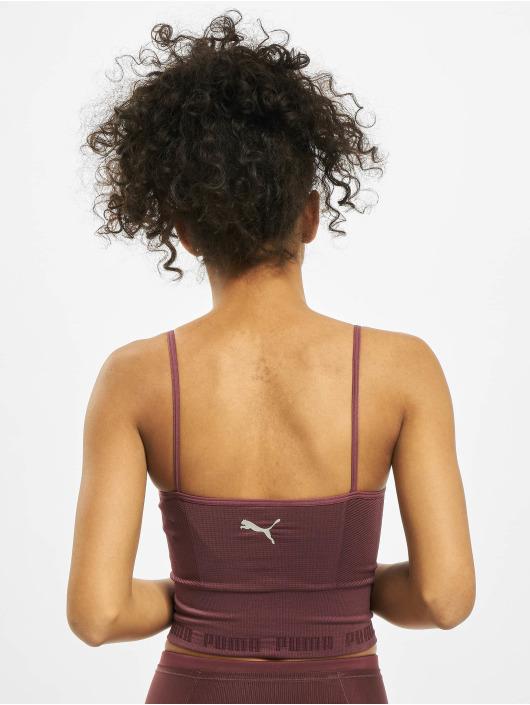 Puma Sport Shirts Evoknit Seamle Crop Sport red