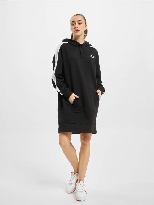 Puma Sukienki Iconic Hooded czarny