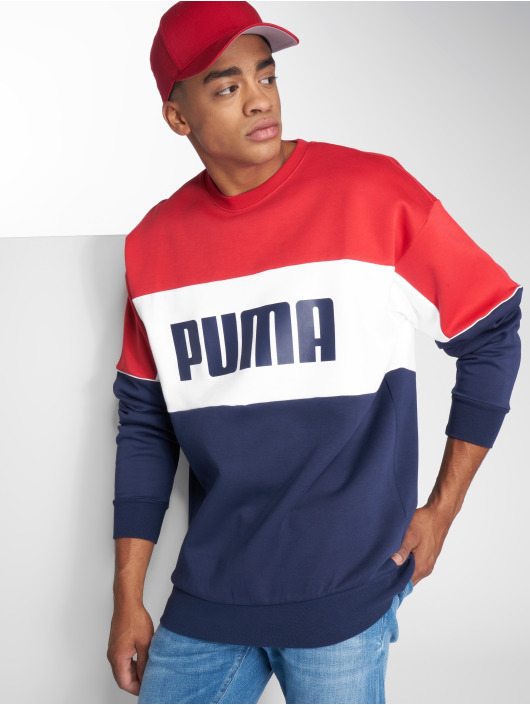Puma Svetry Retro Dk červený