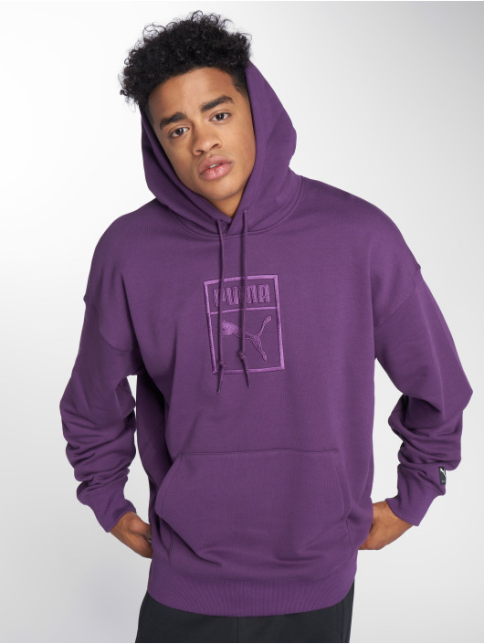 Puma Sweat capuche Downtown Oversize pourpre