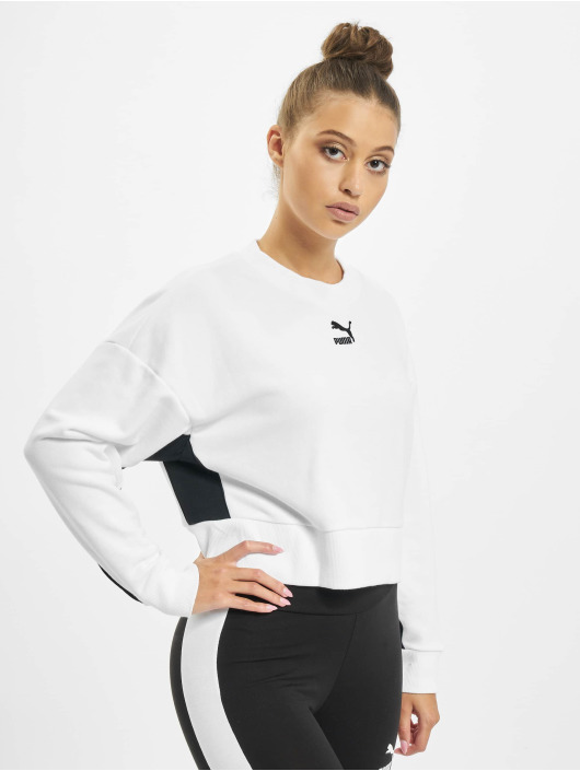 Puma Swetry Classics Cropped bialy