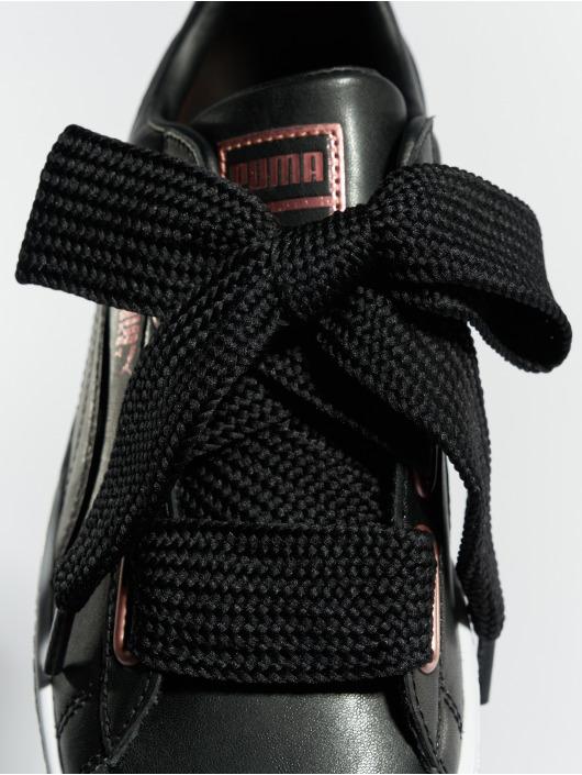 Puma Tøysko Basket Heart Leather svart