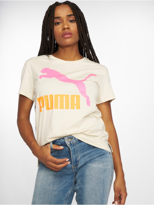 Puma T-Shirt Classics Logo Tee beige