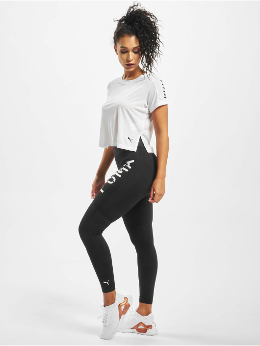 Puma T-Shirt Logo Graphic blanc