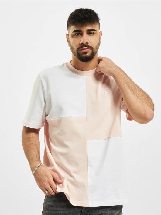 Puma T-Shirt Classics Patchwork blanc