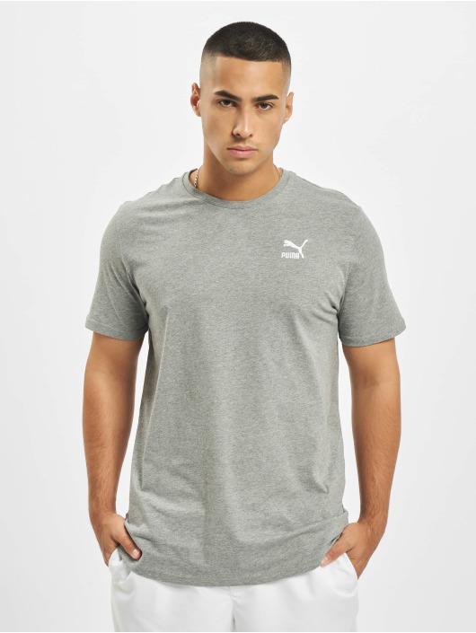 Puma T-Shirt Logo Embroidery grau