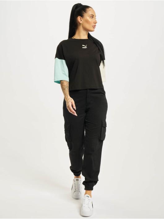 Puma T-Shirt CLSX Boyfriend schwarz