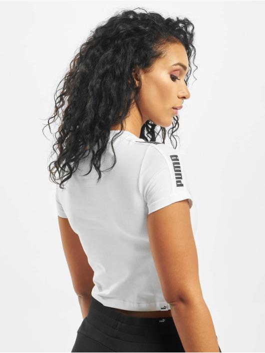 Puma T-shirt Amplified Logo Fitted vit