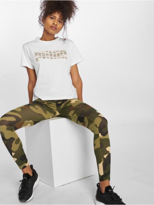 Puma T-Shirt Camo weiß