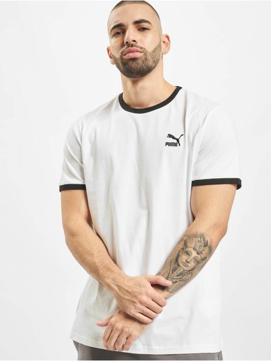 Puma T-Shirt Ringer weiß