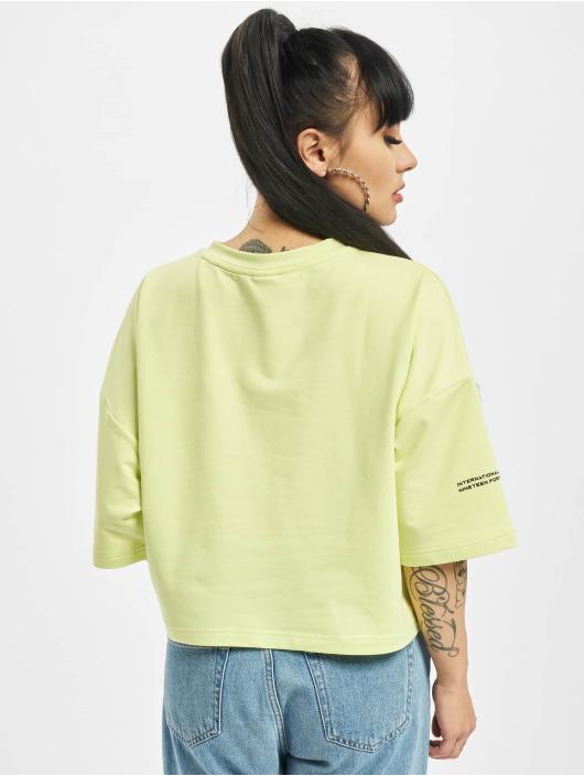 Puma T-Shirt Evide Form Stripe Crop yellow