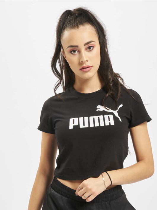Puma T-shirts Amplified Logo Fitted sort