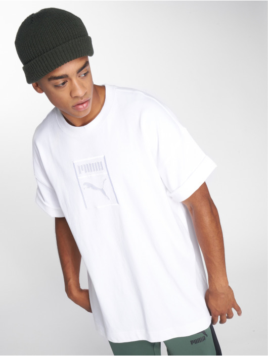 Puma T-Shirty Downtown bialy