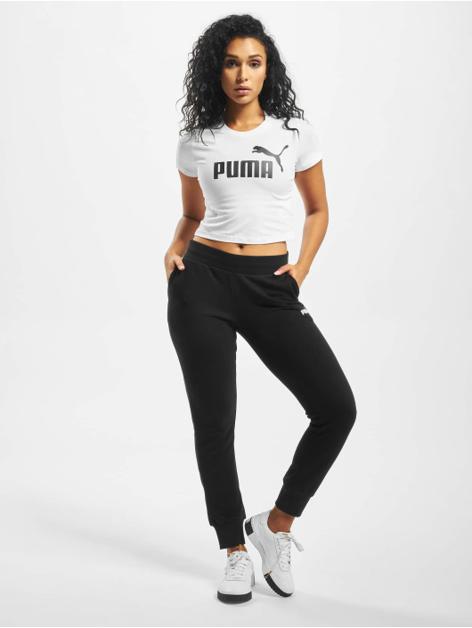 Puma T-Shirty Amplified Logo Fitted bialy