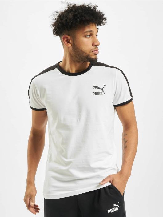 Puma T-Shirty Iconic T7 Slim bialy