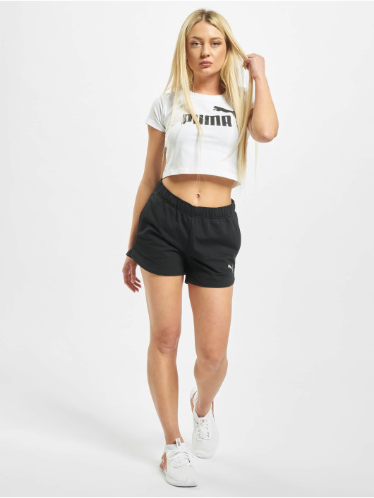 Puma T-Shirty Ess  Fitted bialy