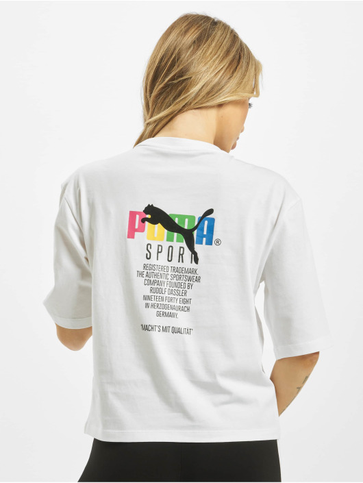 Puma T-Shirty TFS Graphic bialy