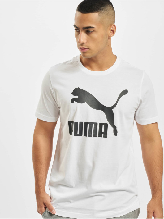Puma T-Shirty Logo bialy