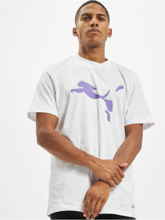 Puma T-Shirty Avenir Graphic bialy