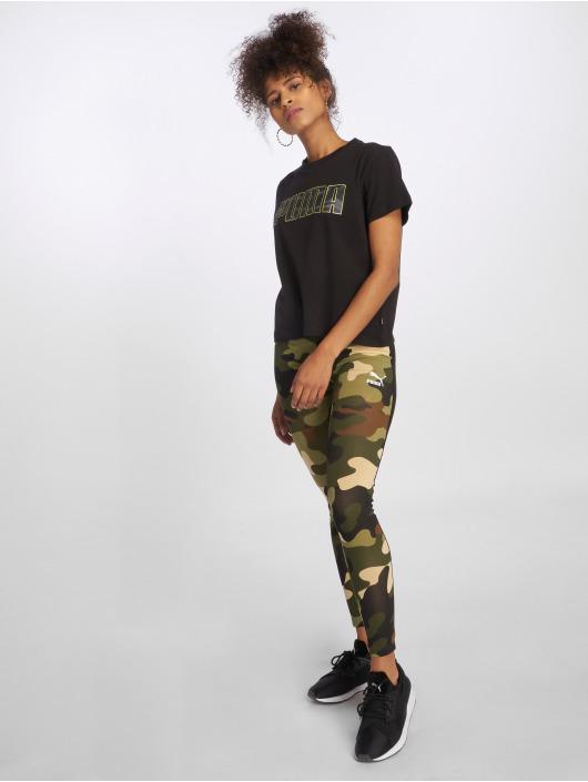 Puma T-Shirty Camo czarny