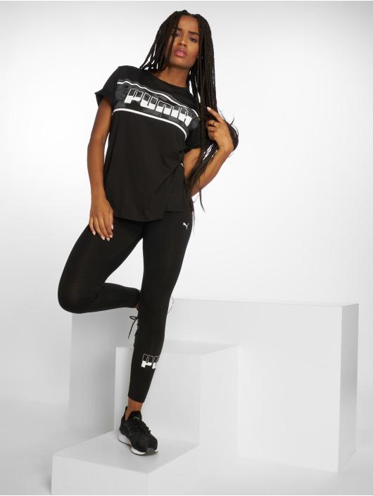 Puma T-Shirty Rebel Boyfriend Logo czarny