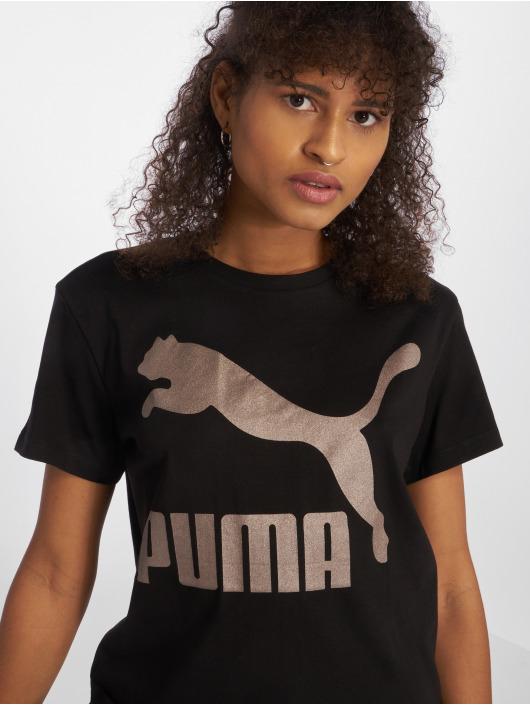 Puma T-Shirty Classics Logo czarny