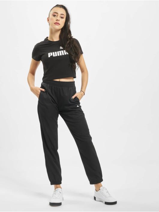 Puma T-Shirty Amplified Logo Fitted czarny