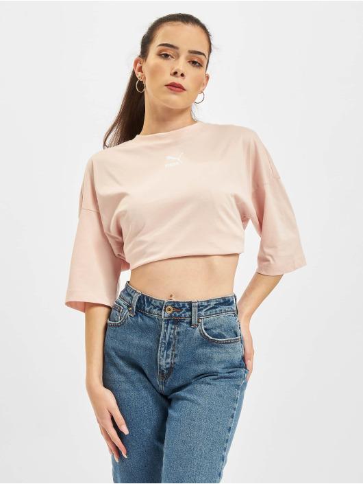 Puma T-Shirty Loose rózowy