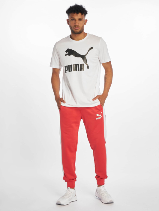 Puma T-skjorter Logo hvit