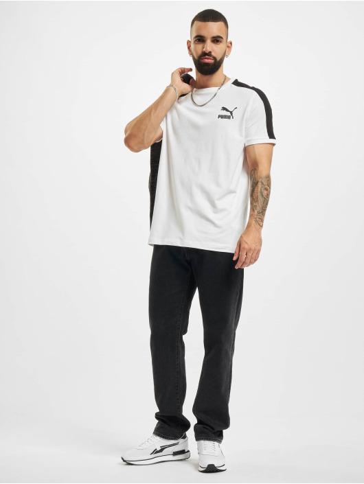 Puma T-skjorter Iconic T7 hvit