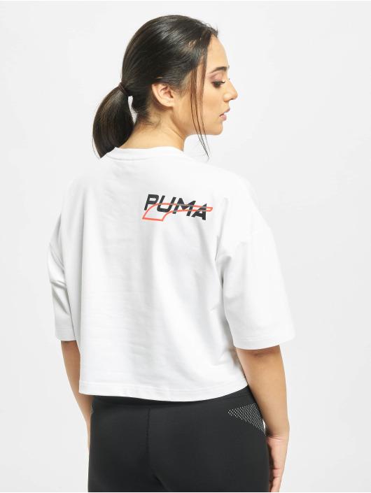 Puma Tričká Evide Form Stripe biela