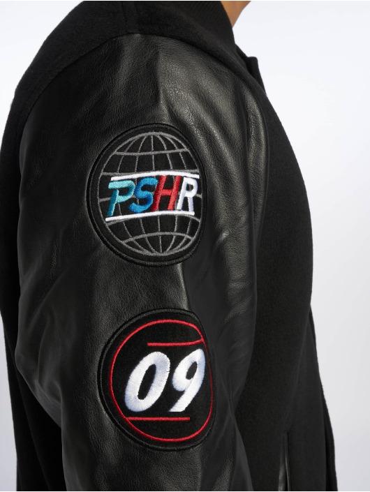 Pusher Apparel Демисезонная куртка Varsity черный