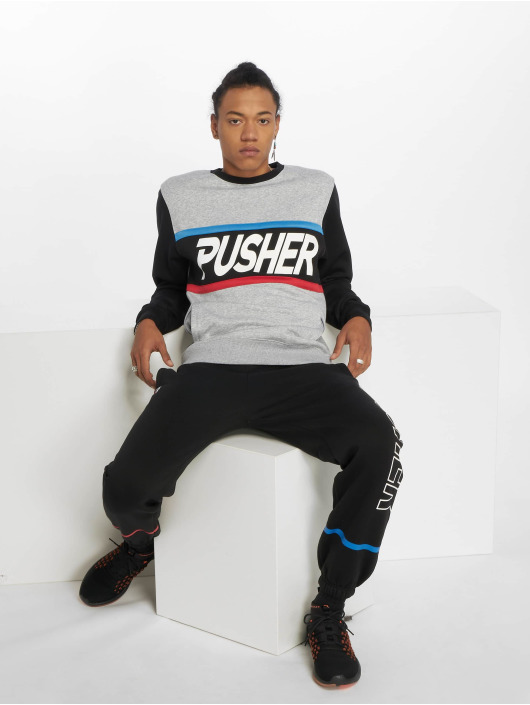 Pusher Apparel Пуловер More Power серый