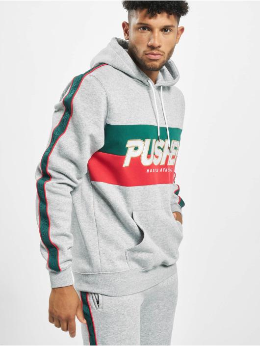 Pusher Apparel Bluzy z kapturem Hustle szary