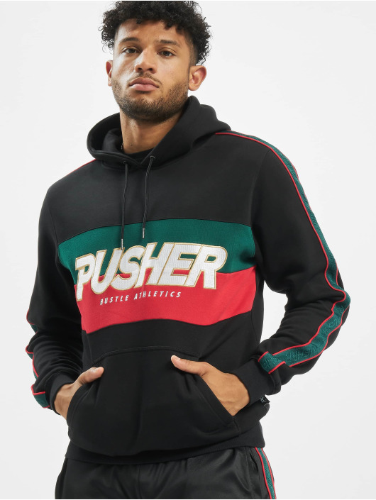 Pusher Apparel Hoodie Hustle svart