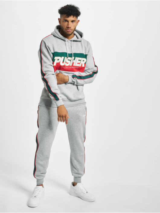 Pusher Apparel Hoodies Hustle grå