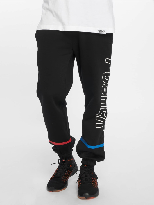 Pusher Apparel joggingbroek More Power zwart